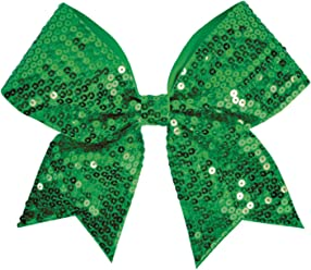 Image result for chasse glitter performance hair bow green