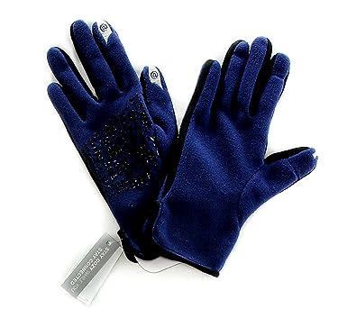 55ae2adfbfd Bloomingdales L21166 Women's Fleece Touch Screen Gloves Navy Blue ...