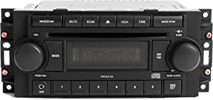 1 Factory Radio AM FM CD Aux mp3 iPod Input Compatible With 2004-2010 Jeep Dodge Chrysler P05064171AE REF