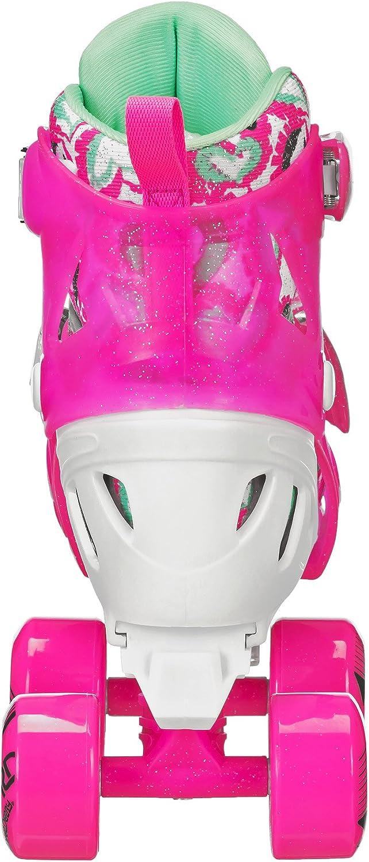36-39 Roller Derby Trac Star Patins /à roulettes r/églables pour Fille Blanc//Rose Taille L