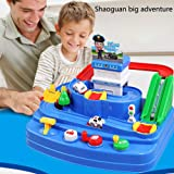 Majome Kids Rail Car Toy Preschool Toys Manipulative Rescue Squad Adventure Train Track Set Racing Toys Gifts for Kids Boys//Girls Above 3 Years Old 36 x 30 x 24 cm