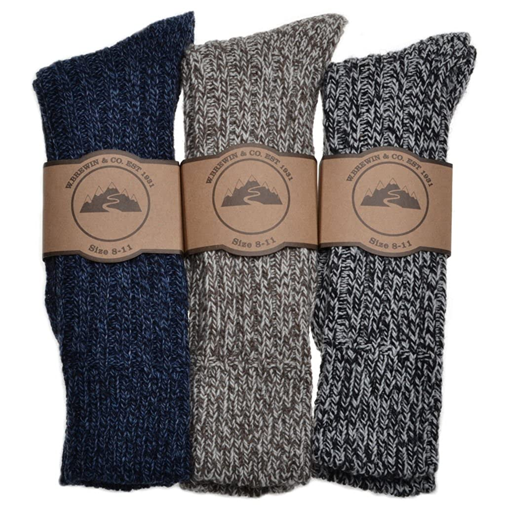 3 Pairs of Mens Thick & Warm Heavyweight Socks One Size: UK Mens Shoe Size 8-11