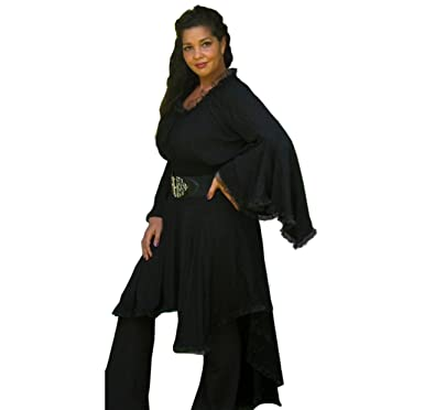 Blusa campesina encaje encantador elegante Classic Lagenlook ...