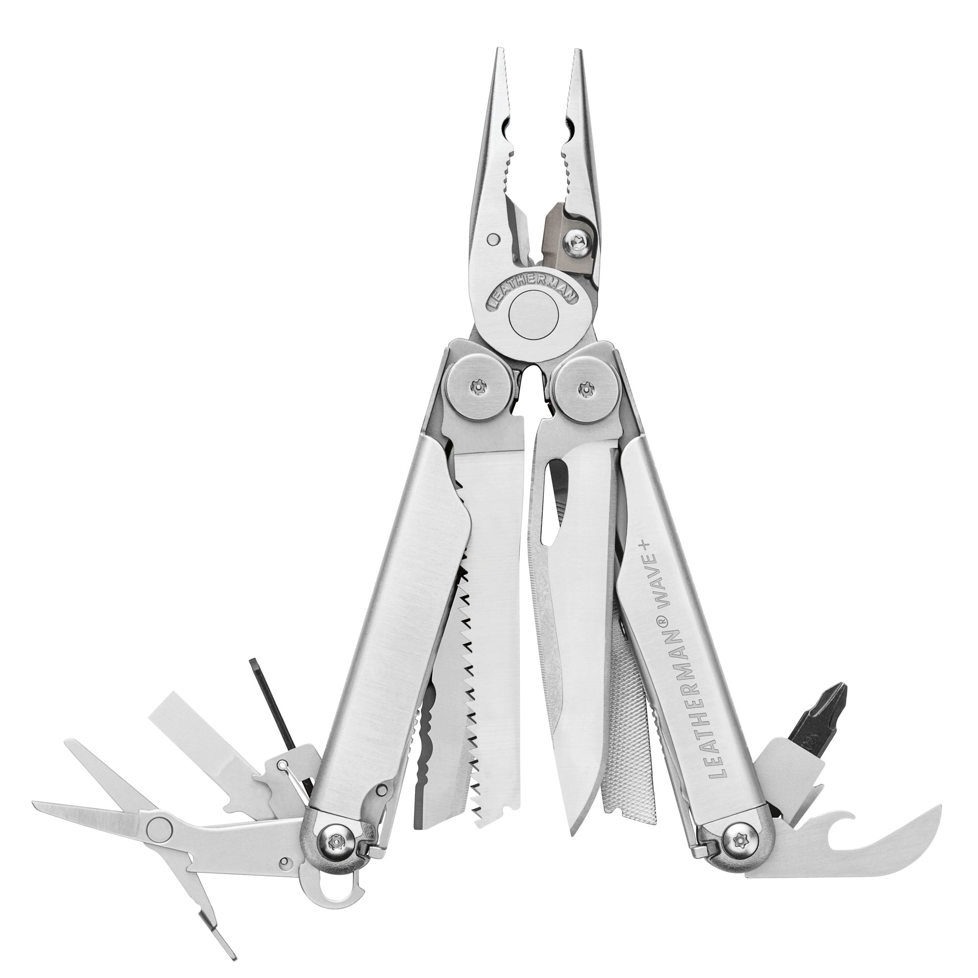 LEATHERMAN - Wave Plus with Cap Crimper Multitool, Stainless Steel
