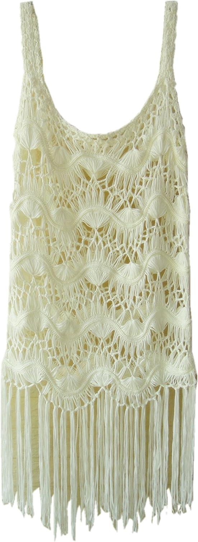 Crochet Summer Beach Fringed Cover-up Dress