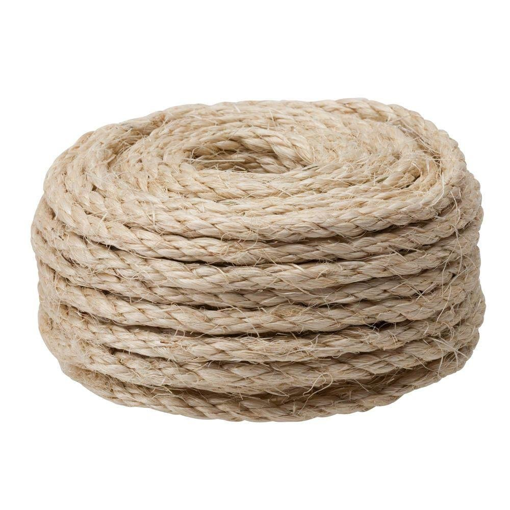 CAT SCRATCHING POST - Replacement Sisal Rope: 3/8'' x 50'