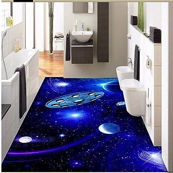Mbwlkj Aesthetic Space Flying Saucer Planet 3d Stereo Floor Painting