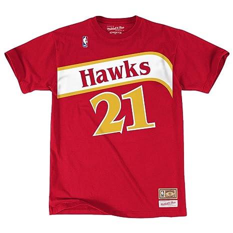 78497c066 Atlanta Hawks Dominique Wilkins Mitchell & Ness HWC Retro Name And Number  Tee (Medium)