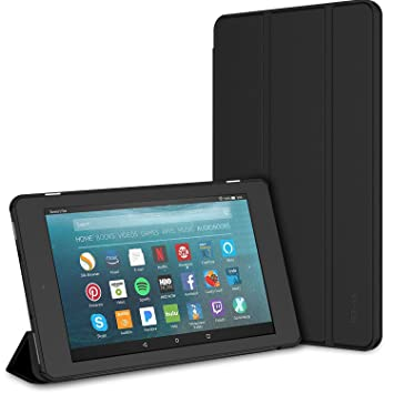 JETech Case for Amazon Fire 7 Tablet (7th Generation 2017 Release Only)  Smart Cover with Auto Sleep/Wake (Black)