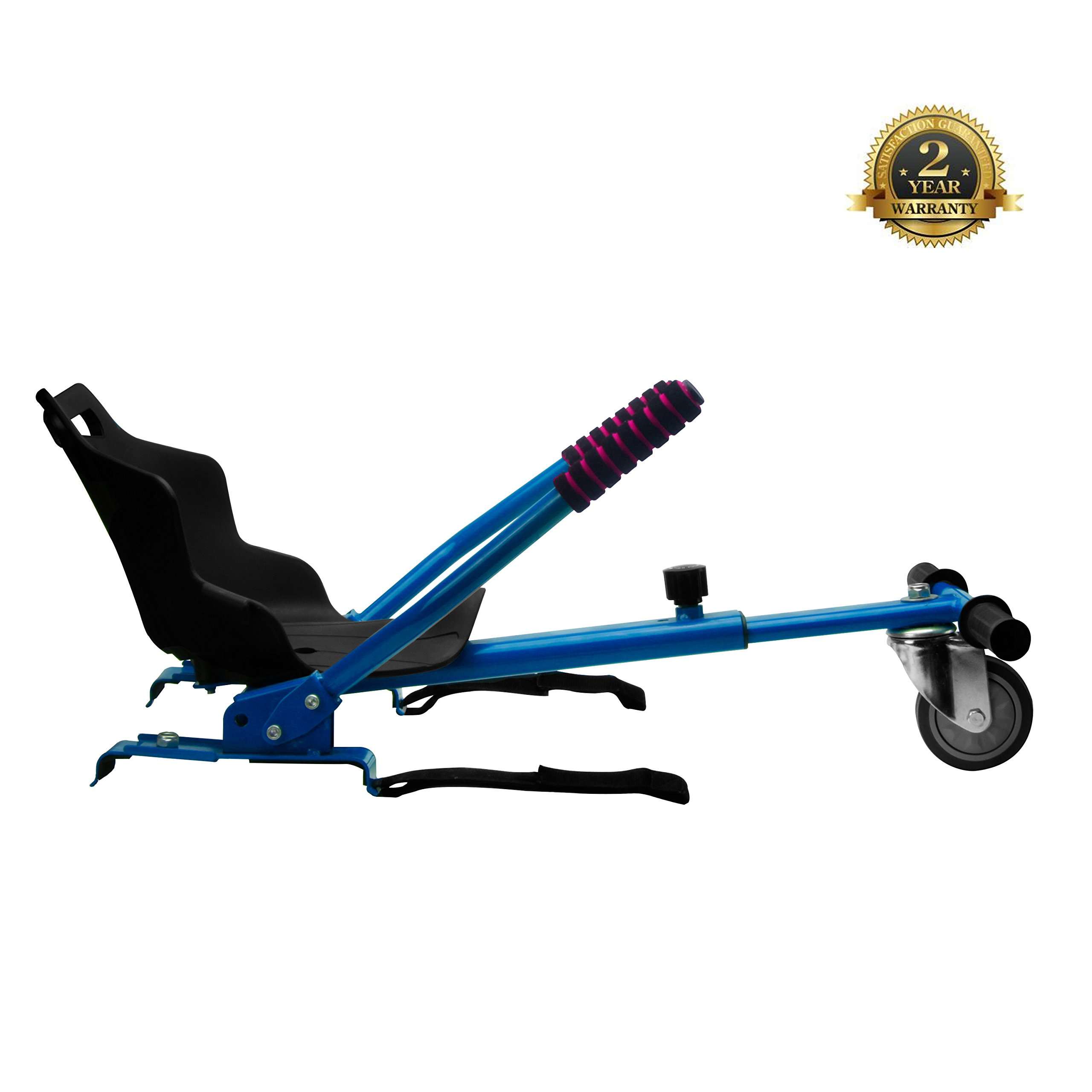 Go Kart for Hoverboards-Adjustable - All Heights - All Ages - Self Balancing Scooter - Compatible with All Hoverboards - HoverBoard not included (blue) by NONE-BRANDED