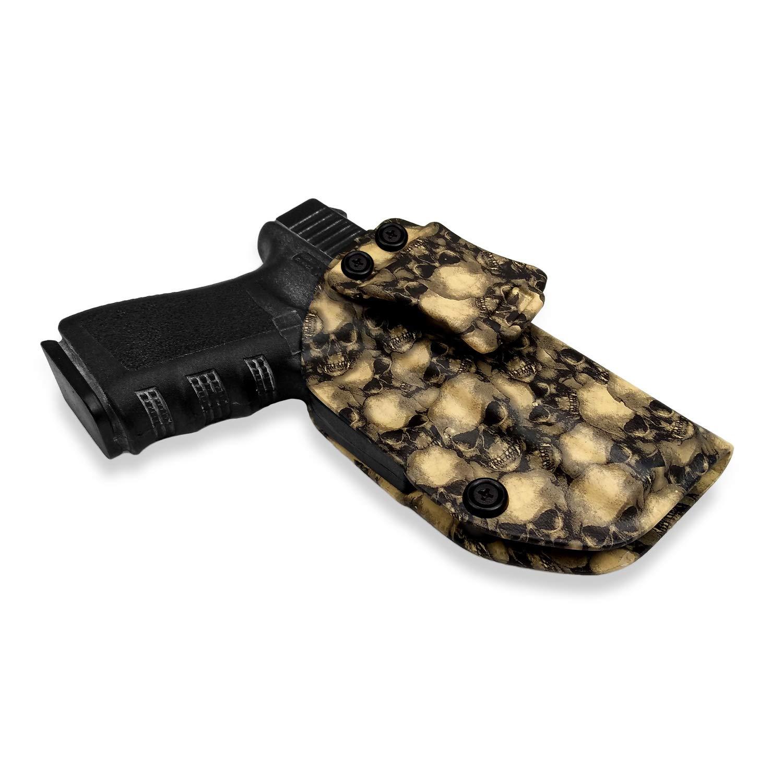 BBF Make IWB Tactical KYDEX Pistolenholster Taro Totem Pattern F/ür Glock 19 19X 23 25 32 Pistolenhalfter H/ängend Verdeckte//Versteckte Pistole Case Waffenholster