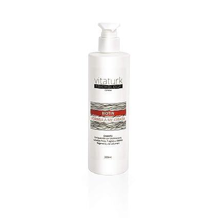 Champu tratamiento caída BIOTIN especial cabellos finos, fragiles y debiles recien injertados o con intensas