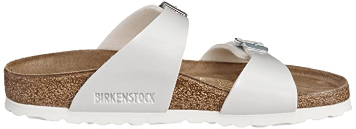 2bddbbdb63f Birkenstock Sydney Narrow Fit - Pearly White 488183 (Man-Made) Womens  Sandals 40 EU  Amazon.com.au  Fashion