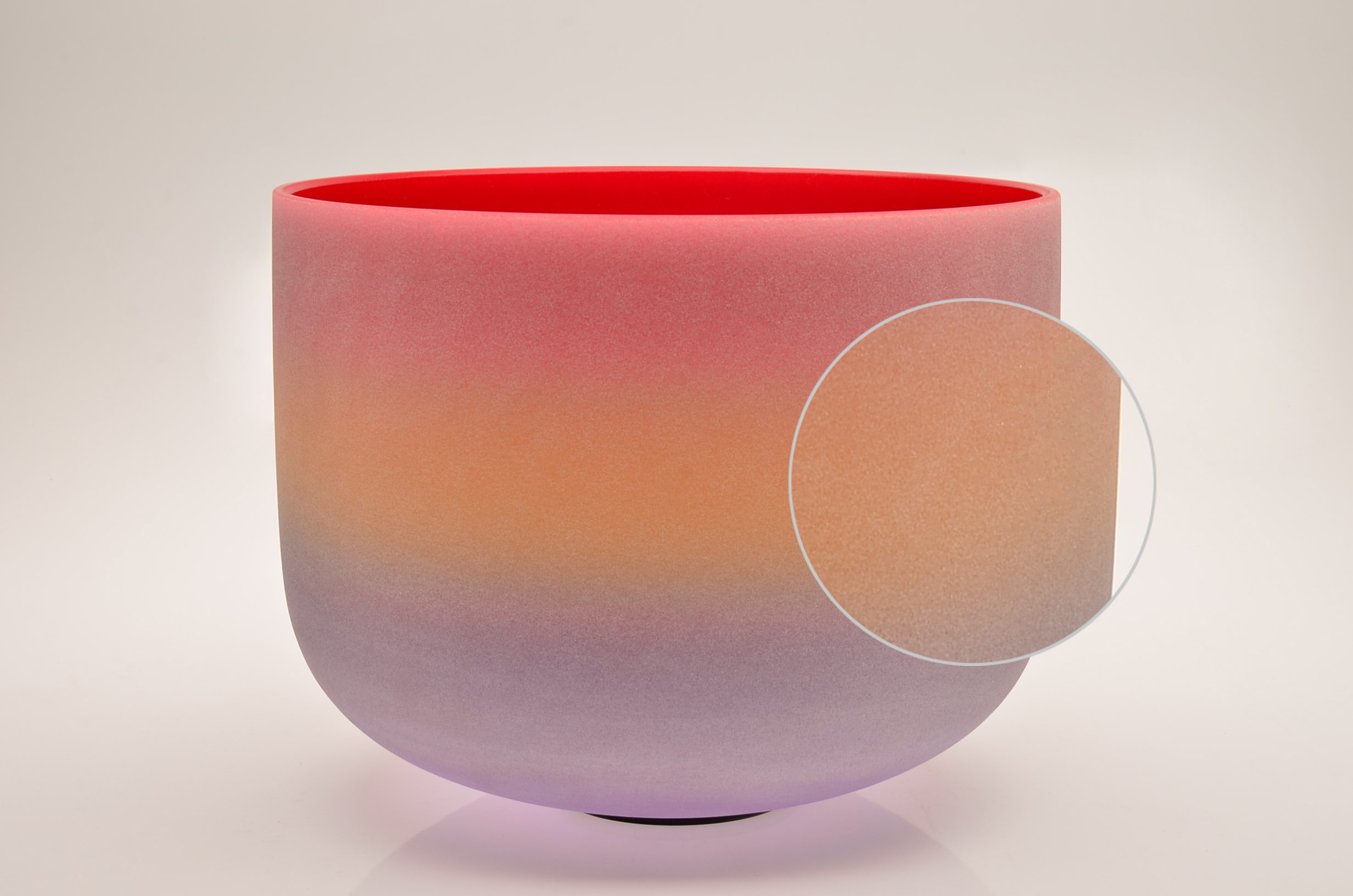 TOPFUND Singing Bowls C Note Crystal Singing Bowl Root Chakra Rainbow Color 12 inch (O-Ring and Rubber Mallet Included) by TOPFUND (Image #5)
