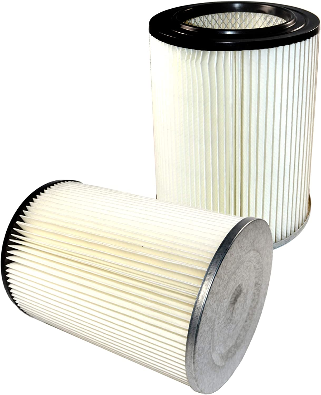 HQRP 2-pack General Purpose Cartridge Filter Compatible with Craftsman Red Stripe Vacuums part # 17816 9-17816 Replacement, New Design