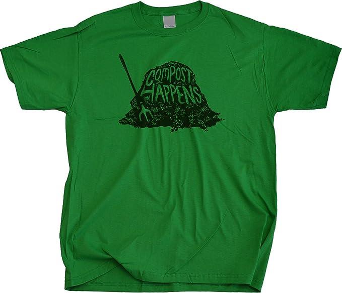 COMPOST HAPPENS Adult Unisex T-shirt / Funny Gardening Tee