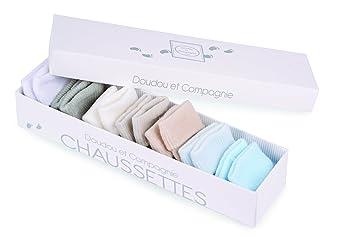 Doudou et Compagnie DC2491 - Establecer calcetines semanales para el bebé, varón, 7 piezas, colores surtidos: Amazon.es: Bebé