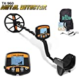 """13"""" Professional Metal Detector for Adults, High Sensitivity Metal Detector PinPointer, Gold Detector with…"""