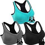 Women Racerback Sports Bras High Impact Workout Yoga Gym Fitness Bra