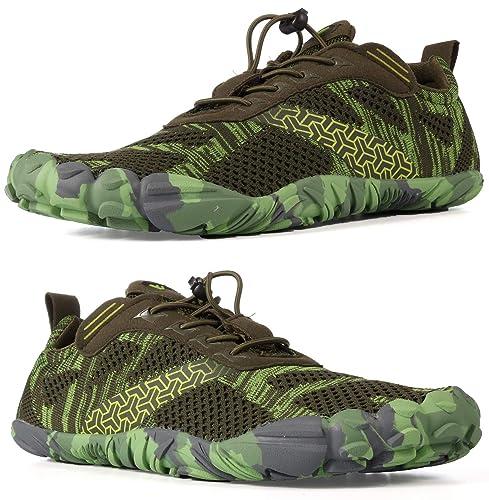 WHITIN Homme Femme Minimaliste Barefoot Shoes zéro Drop Chaussure Basket Five Finger Fivefinger 5 Doigt de Pied Nu Running Sport Trail Marche pour