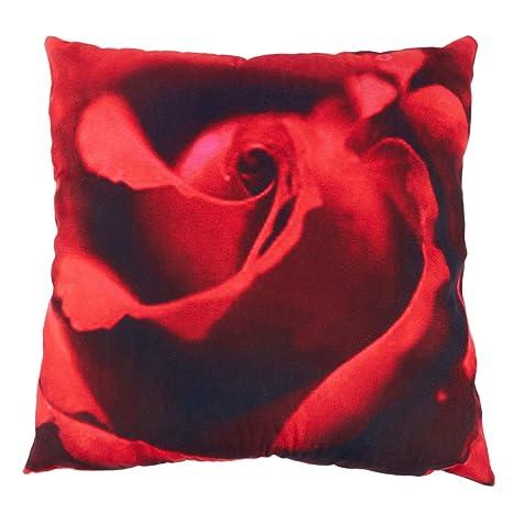 SODIAL(R) 1pcs 45 x 45 cm 3D Rosa roja Pringting de Funda de ...