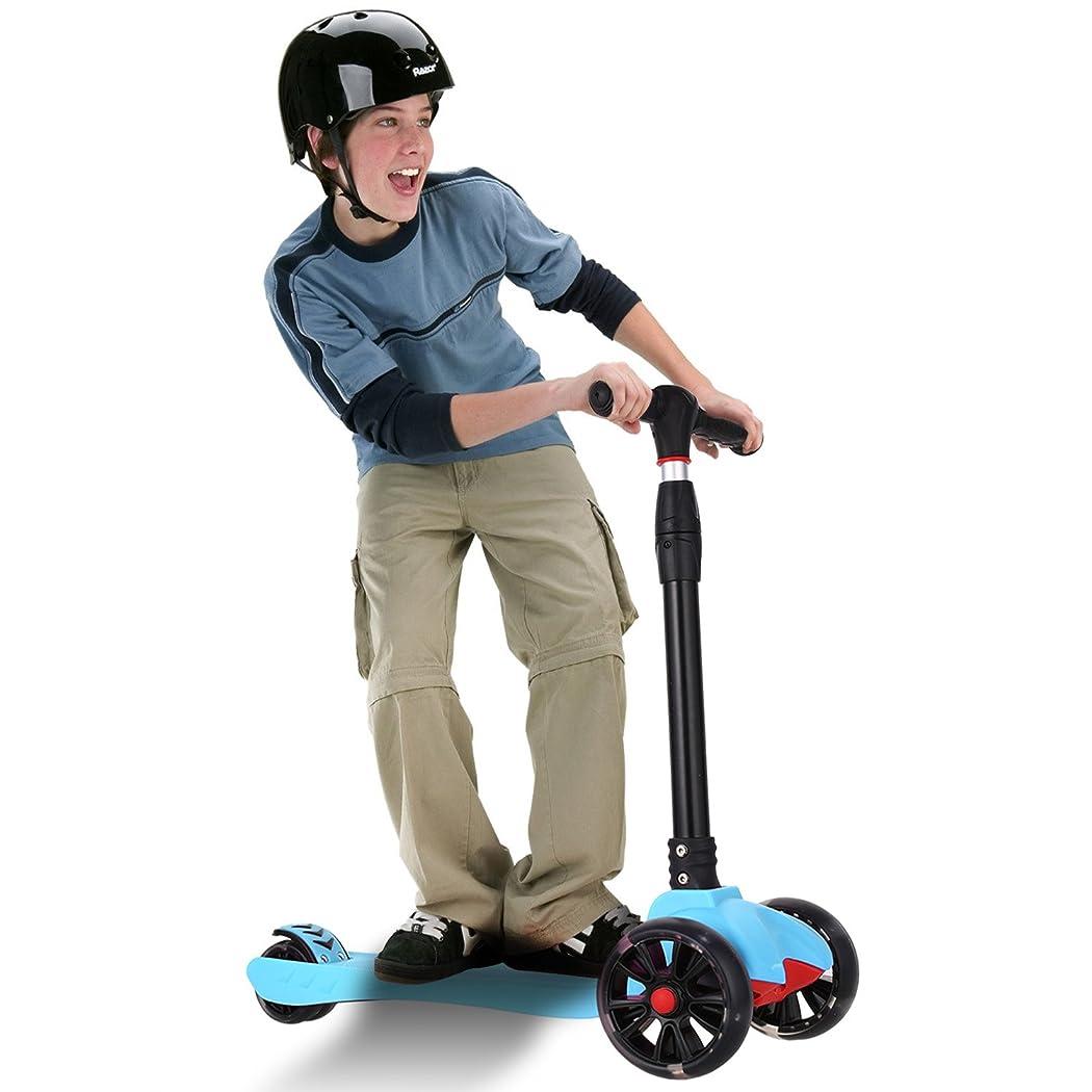 Fast Foldable 3 Wheels Kids Kick Scooter,djustable Height Kick Scooter For Kids LED Light Big Flashing Christmas Gift For Child Girl Boy