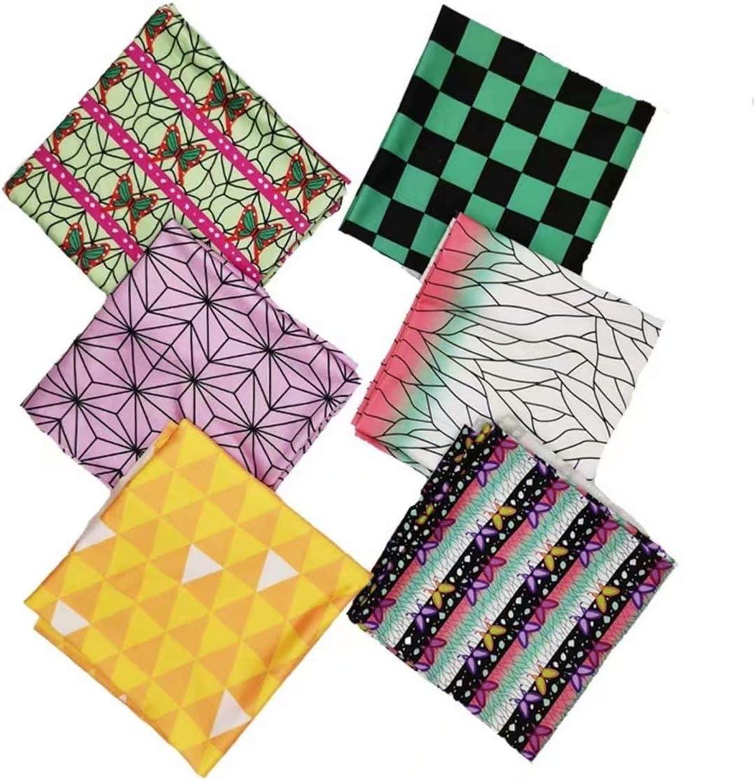 wholesale 6 PCS Cotton Fabric Quilting Demon Theme Slayer Quarters Sale SALE% OFF