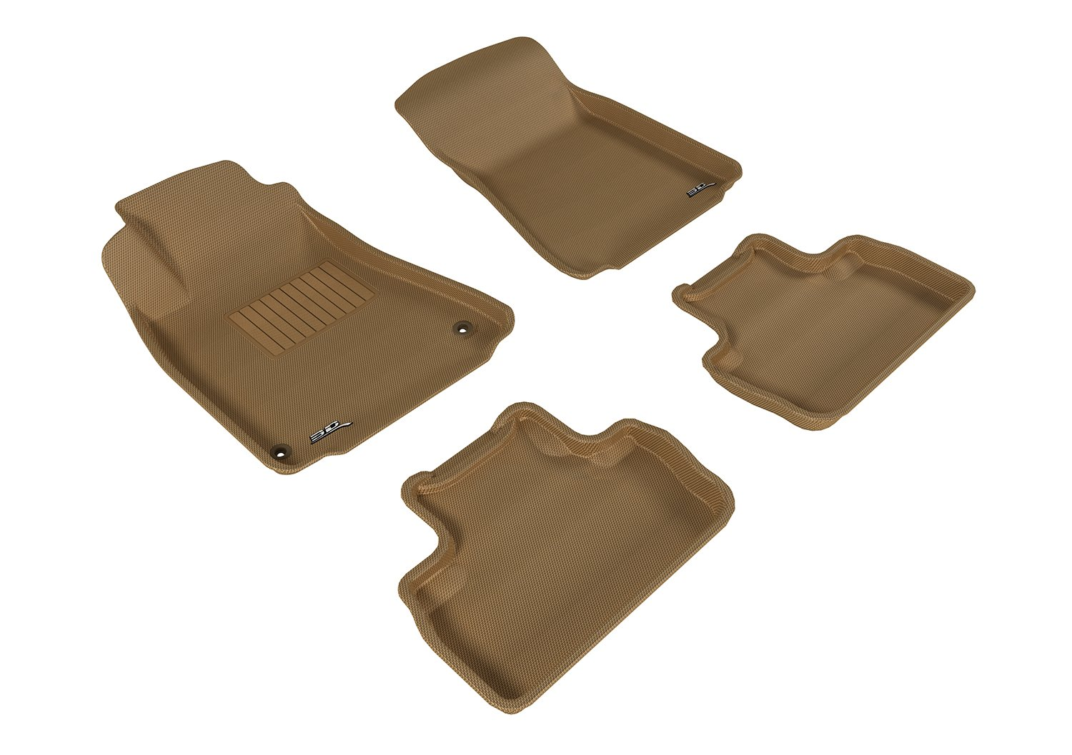 Kagu Rubber Tan L1LX00601502 3D MAXpider Complete Set Custom Fit All-Weather Floor Mat for Select Lexus Models