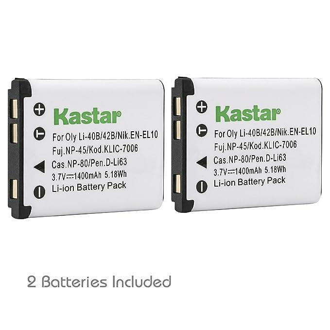 Batería CARGADOR PARA Pentax efina optio s12 s1