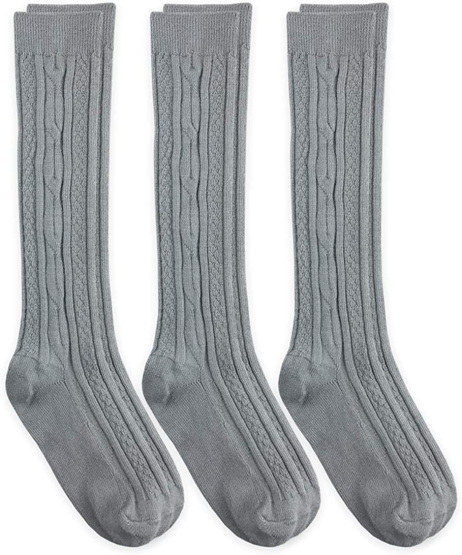 3 Pack Blue Heaven Girls Cable Knit Knee High Socks