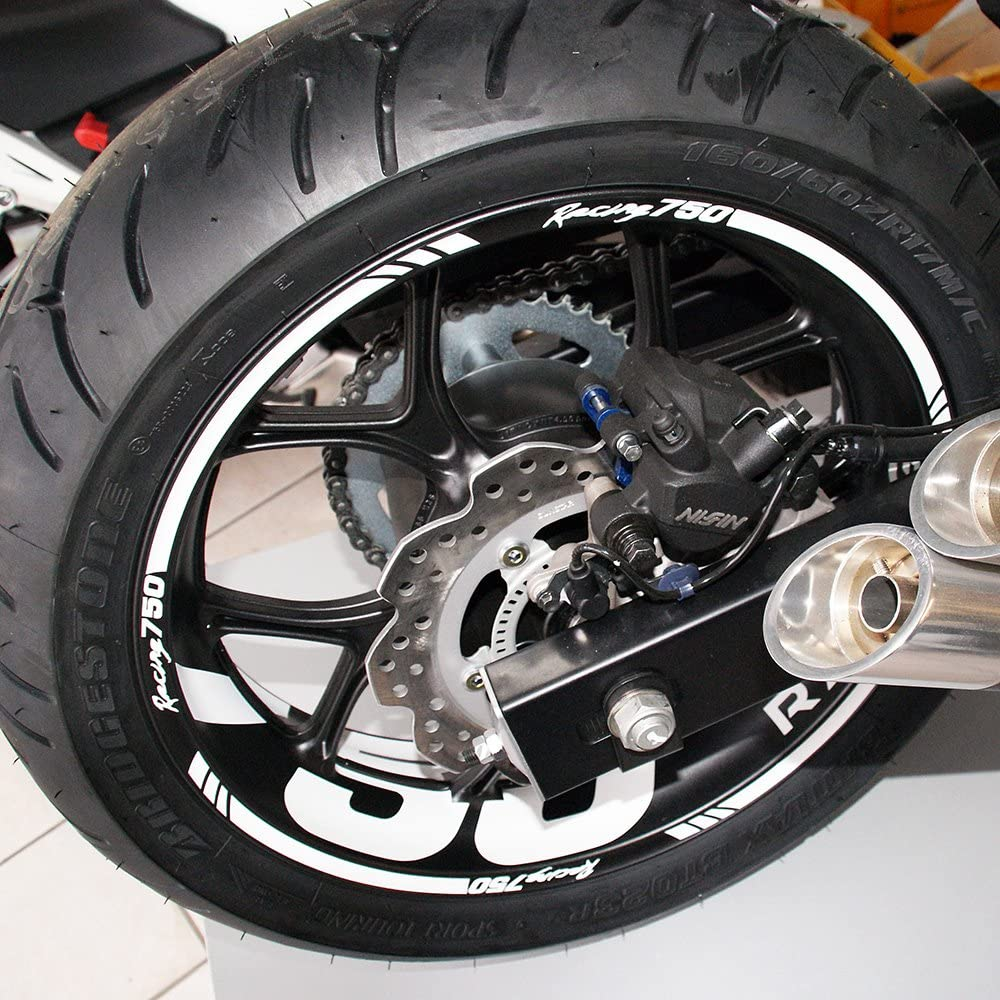 Felgenrandaufkleber Passend Für Honda Nc750s Und Nc750x Felgenaufkleber Aufkleber Rot Auto