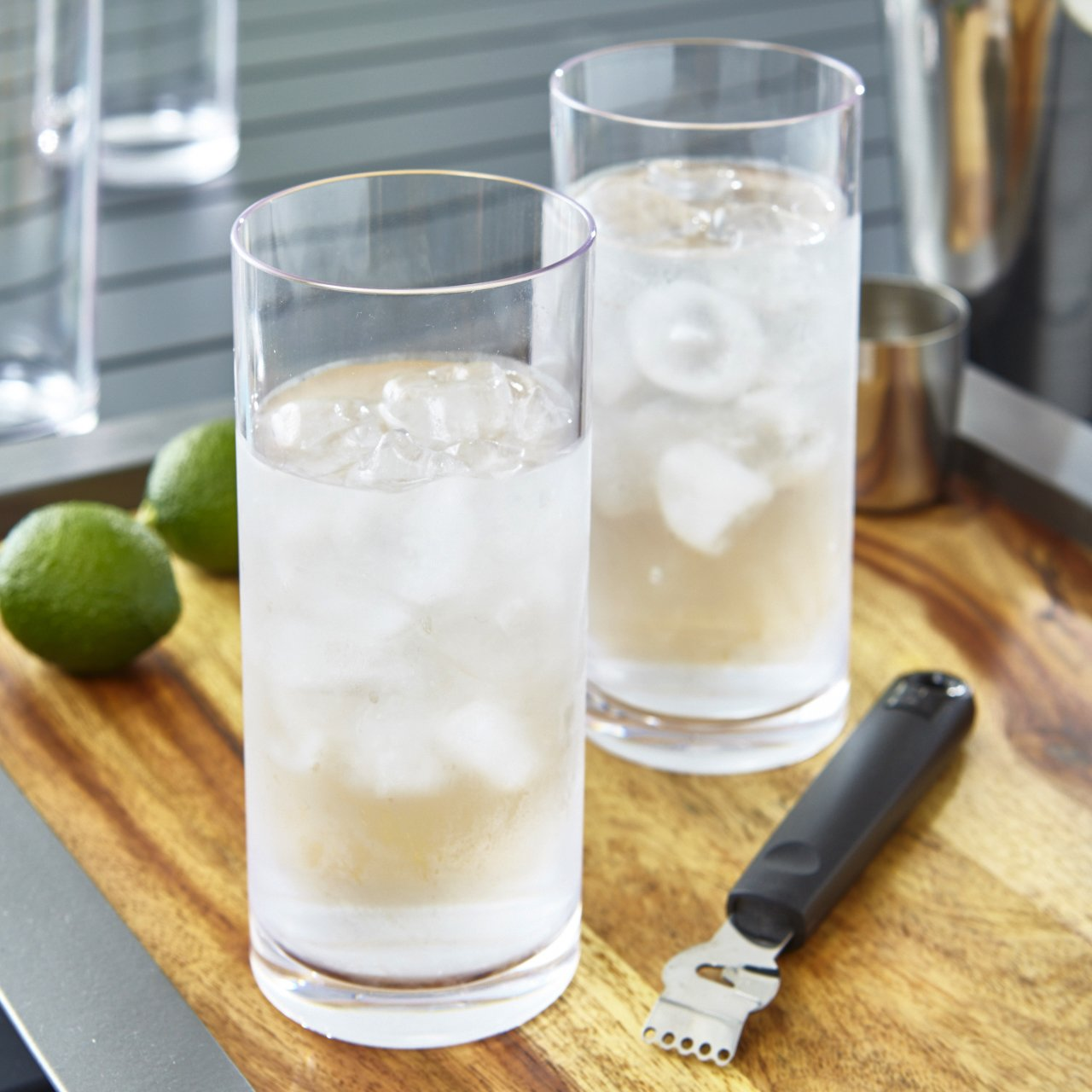 Classic 16-ounce Premium Quality Plastic Water Tumbler | Clear Set of 6 by US Acrylic (Image #2)