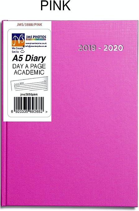 Pink Color JMS® 2019-2020 - Agenda escolar (tamaño A5, año medio ...