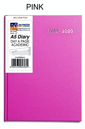 Pink Color JMS® 2019-2020 - Agenda escolar (tamaño A5, año ...