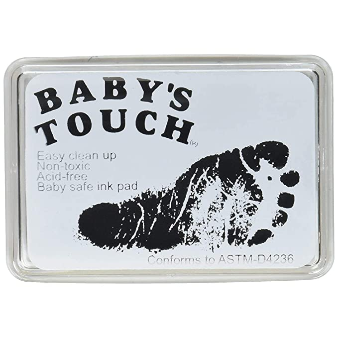 Black Nesee Baby Ink Pad for Baby Prints,Print Stamps Reusable Feet /& Hands Stamps Ideal Family Memory