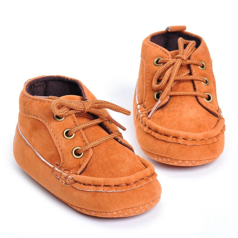 CHENGYANG Neonati Bambini Scarpe da Ginnastica Antiscivolo Morbide Sneakers Scarpine Prima Infanzia (Cachi#08, 12cm)