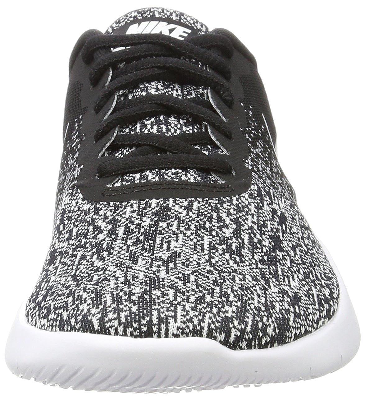 Nike Mens Flex Contact Running Shoes Black White 9