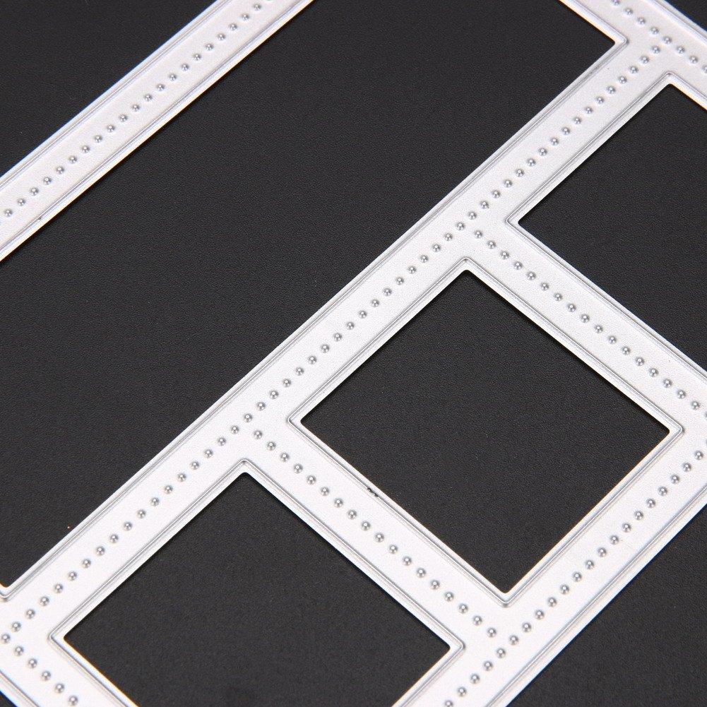 Demiawaking Metallrahmen Form Stanzschablonen Metall Schneiden Schablonen f/ür DIY Scrapbooking Album Schneiden Schablonen Papier Karten Sammelalbum Dekor