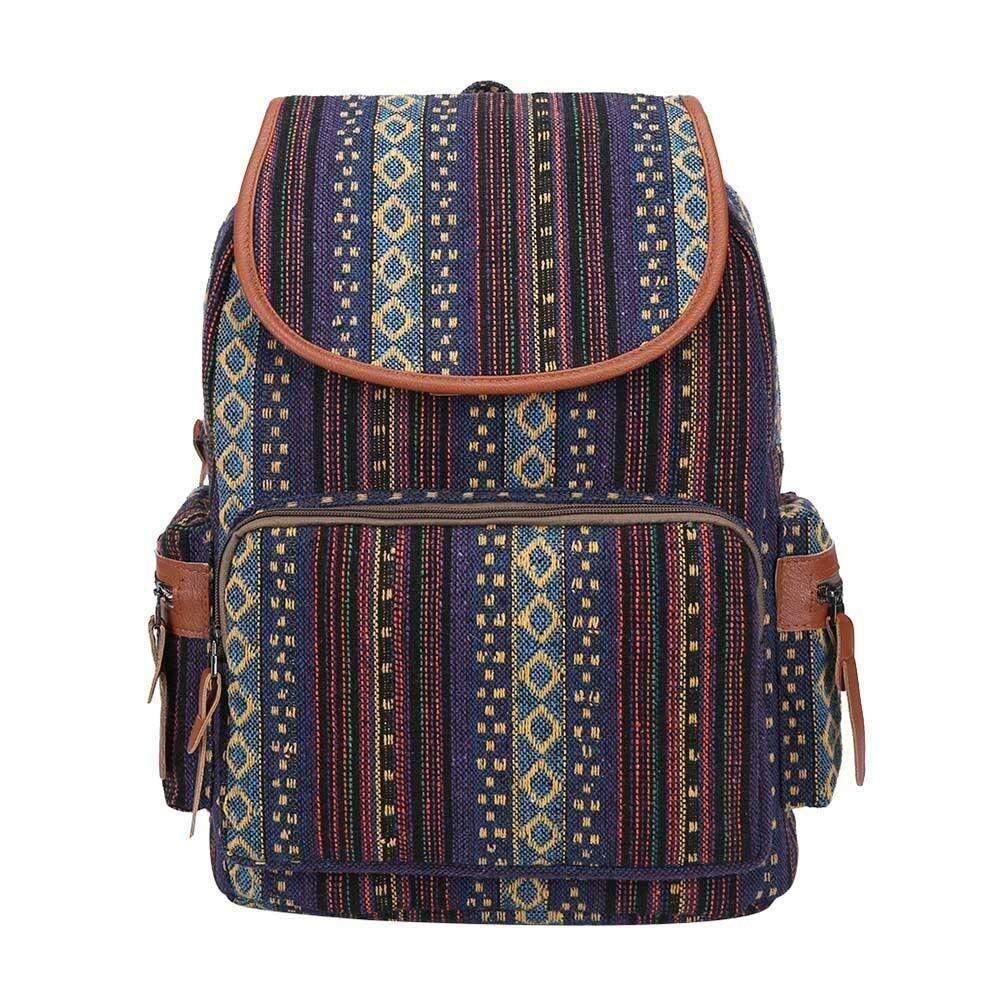Mochila de viaje /étnica Boho Mochilas de hombro de lona de gran capacidad for mujeres Excursionistas de deportes al aire libre Color : Brown Bolsas de trekking Mochila de viaje Mochila de moda