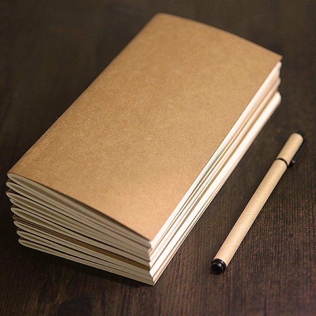Cuaderno de Notas Cuaderno de Papel Cuaderno en Blanco Cuaderno de Contabilidad Lamdoo Kraft Papel papeler/ía 21 * 11cm 4