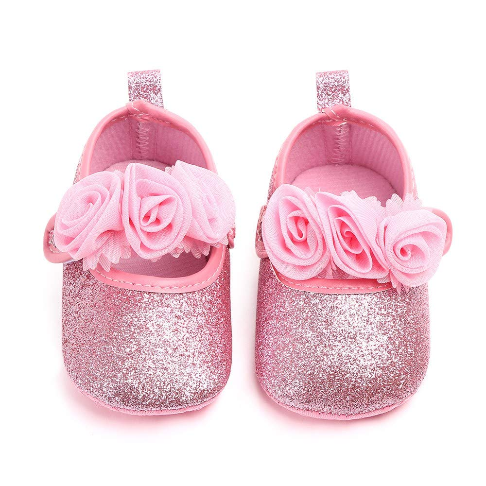 Pandaie Baby Boy /& Girl Shoes / Newborn Toddler Baby Girls Floral Bling First Walkers Soft Sole Shoes