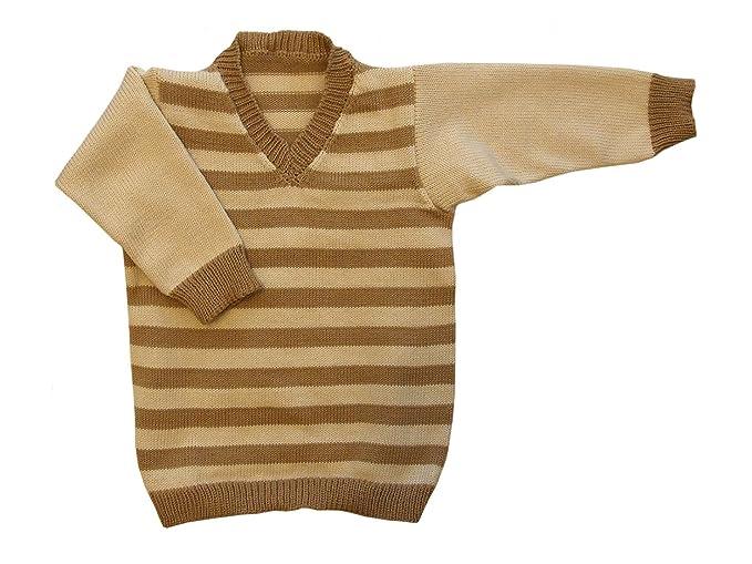 Amazon.com: 100% Lana de merino Baby Infant Knitted Suéter ...