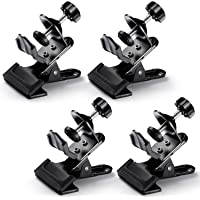Neewer® 4 Pack Multi-Functional Black Clamp Clip Holder with U-Clamp for Photography Studio Shooting Light Stand Tripod Boom Arm, Background Support