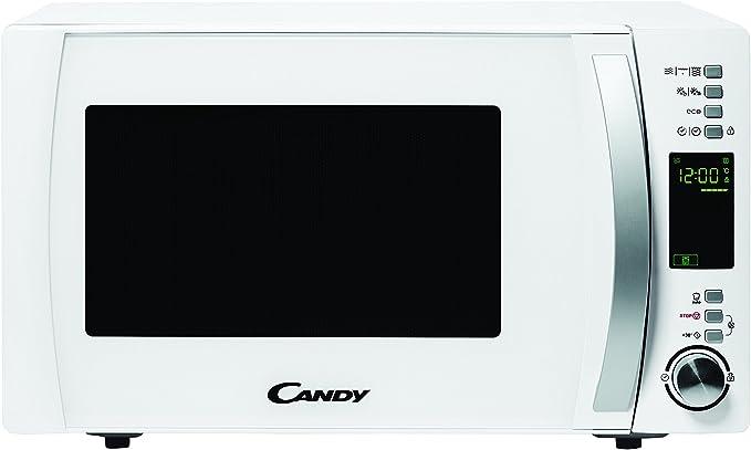 Oferta amazon: Candy CMXG 25DCW Microondas con Grill y Cook In App, 40 Programas Automáticos, 900 W, 25 litros, Acier INOX, Blanco           [Clase de eficiencia energética A]