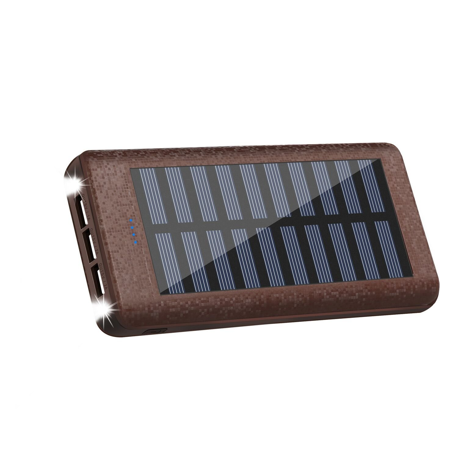 Solar charger Power Bank 24000mah Huge Capacity Portable Charger 3 Output Ports (2A+2A+1A) Backup Battery Pack For iPhone iPad Samsung HTC Cellphones Tablet And More by Rolisa