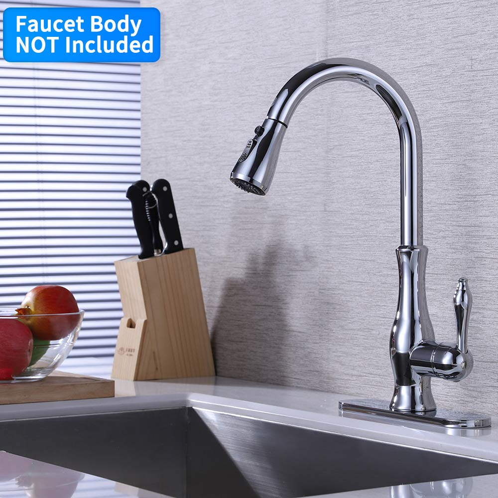 KES Kitchen Faucet Sprayer Head Replacement Pull Out Kitchen Faucet Parts Spray Head 3-Function G1/2 Connection Chrome, PFS12B-CH by Kes (Image #8)