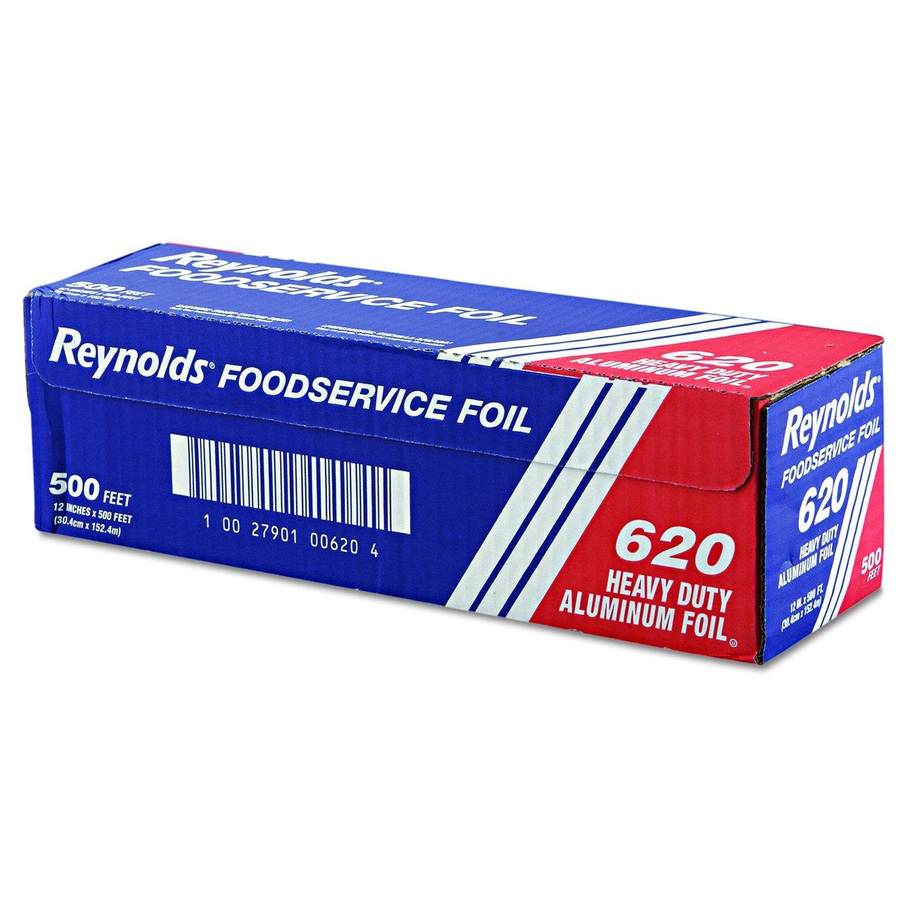 """Reynolds Wrap 620 Heavy Duty Aluminum Foil Roll, 12"""" x 500 ft, Silver"""