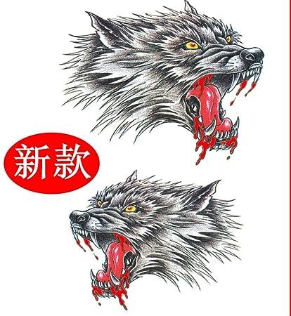 Cabeza de lobo tatuajes adhesivos pegatinas de tatuaje ...