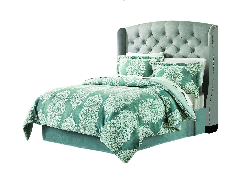 Amazon.com: Lenox C1512050 SCK AST Velvet Plush Comforter Set Amaya  King,Blue,King: Home U0026 Kitchen