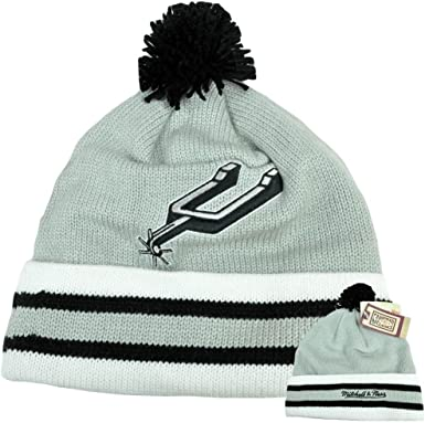 details for detailed images top design Amazon.com : San Antonio Spurs Cuffed Knit Hat with Pom by ...